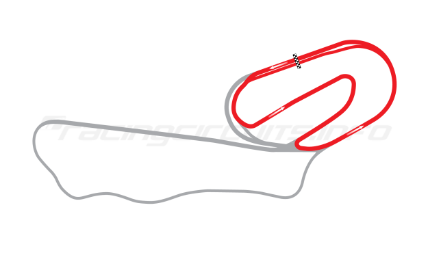 Map of ISM Raceway, Short road course 1964-90