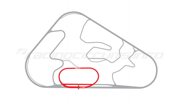 Map of Pocono Raceway, Three-quarter mile oval 1991-1994
