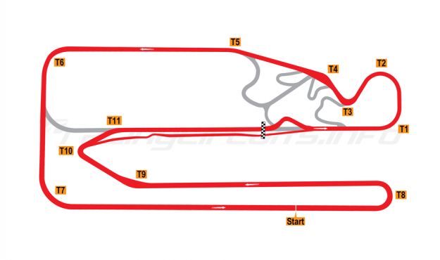 Map of Posadas, Circuit 1 + Chicane 2015 to date