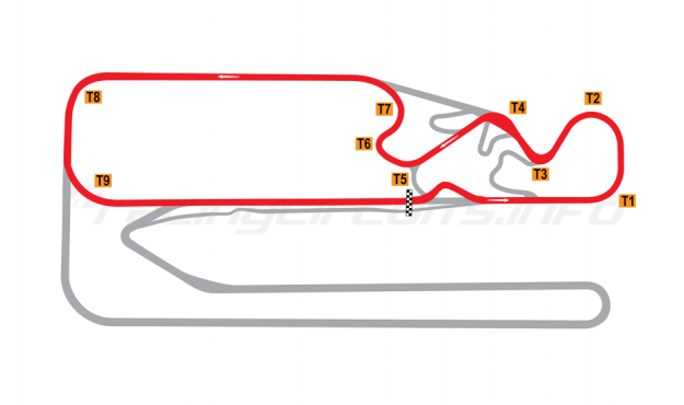 Map of Posadas, Circuit 2 + Chicane 2015 to date