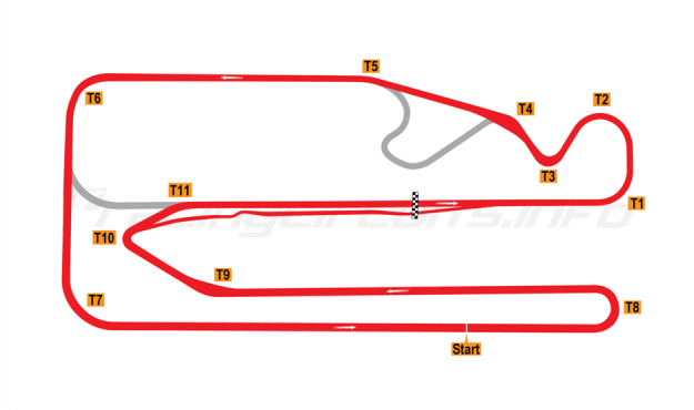 Map of Posadas, Circuit 1 2011-14