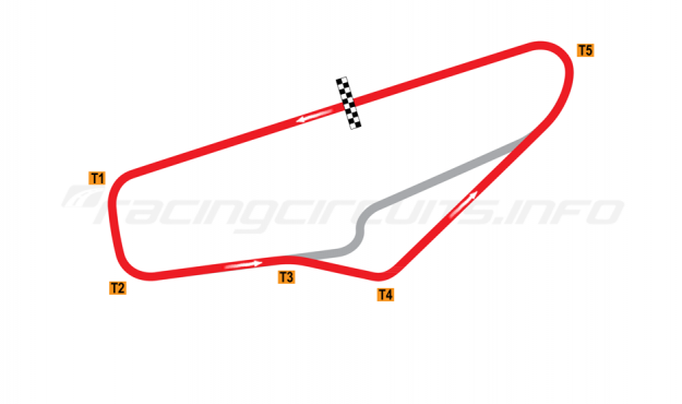 Map of Potosino, Exterior Road Course 1985-2004