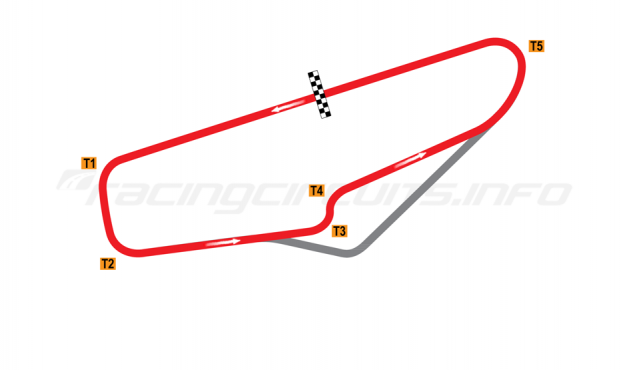 Map of Potosino, Interior Road Course 1985-2004