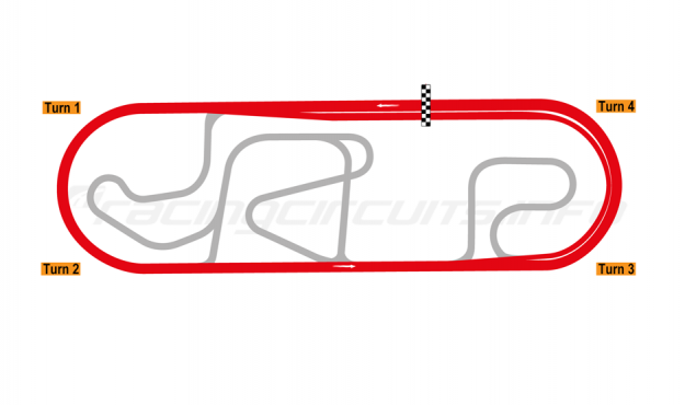 Map of Puebla, Oval Course 2006 to date