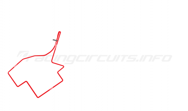 Map of Punta del Este, Formula 2 / Formula 3 Circuit 1981-88