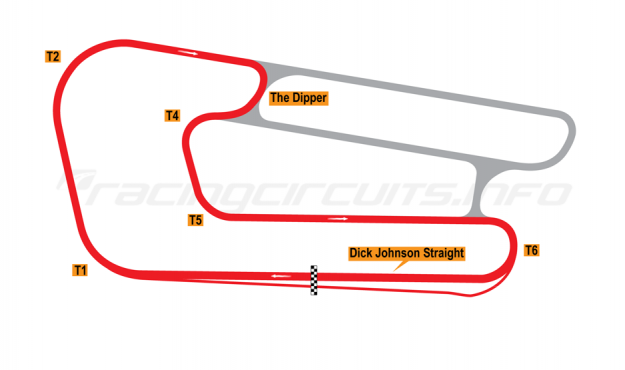 Map of Queensland Raceway, Clubman Circuit 1999 to date