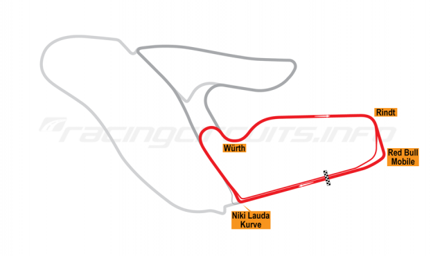 Map of Red Bull Ring, Red Bull Ring Südschleife National Circuit 2019 to date