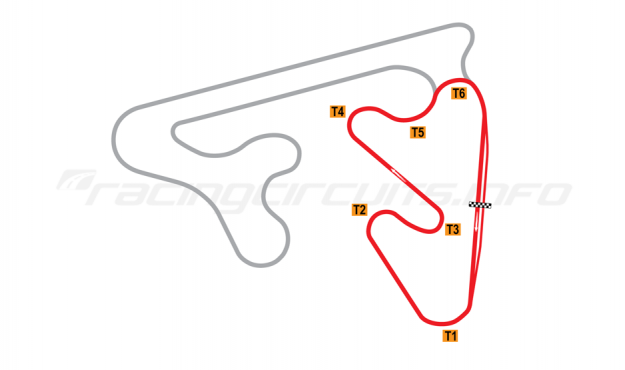 Map of Red Star Raceway, Short Circuit (Clockwise) 2010 to date