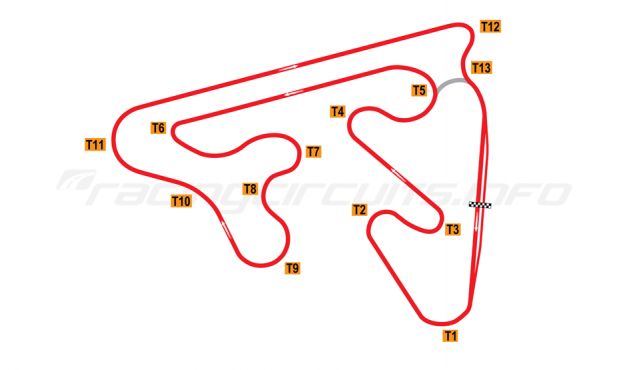 Map of Red Star Raceway, 2010 to date