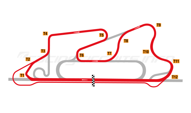 Map of Reem International Circuit, 2008 to date