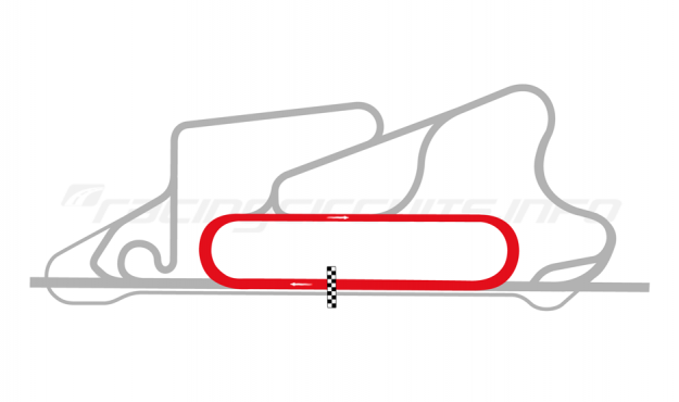 Map of Reem International Circuit, Oval circuit 2008 to date