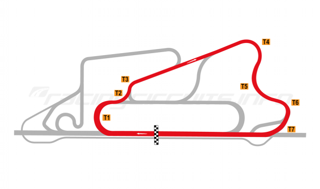Map of Reem International Circuit, Short circuit 2008 to date