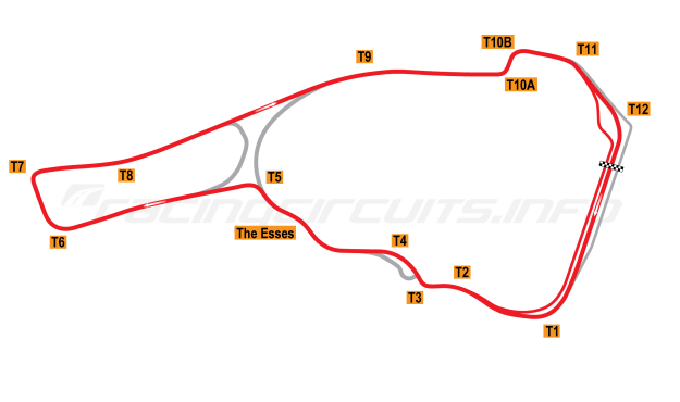 Map of Road Atlanta, Grand Prix Circuit 2003-2007