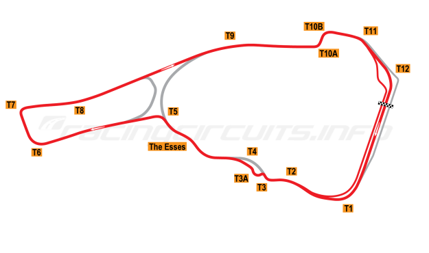 Map of Road Atlanta, Motorcycle Grand Prix Circuit 2003-2007