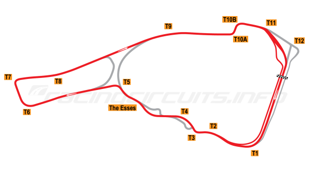 Map of Road Atlanta, Grand Prix Circuit 2008-16