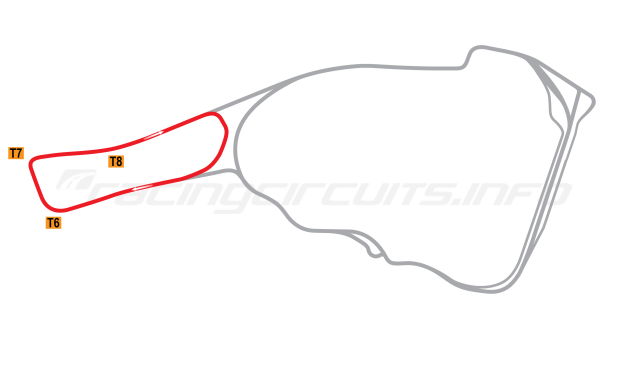 Map of Road Atlanta, Club Course 2017 to date