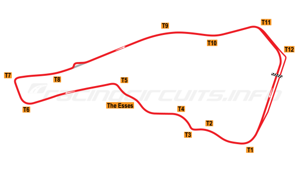 Map of Road Atlanta, Road course + chicane 1988-97