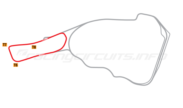 Map of Road Atlanta, Club Course 1998-2002