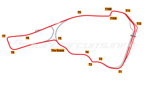 Map of Road Atlanta, Grand Prix Circuit (original pitlane) 1998-2002
