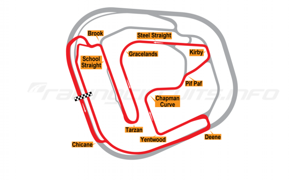Map of Rockingham, Motorcycle Long Circuit 2001 to date