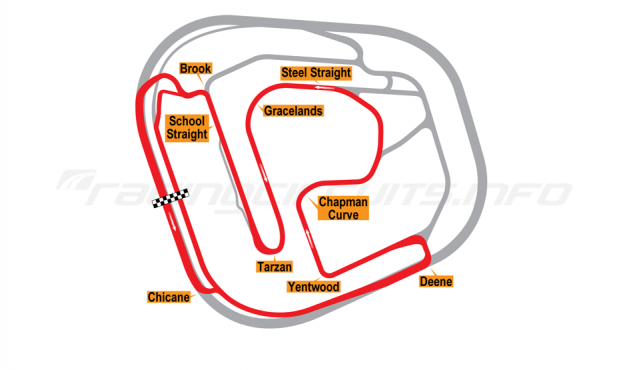 Map of Rockingham, Motorcycle Circuit 2001 to date