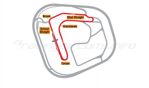Map of Rockingham, Handling Circuit 2001-18