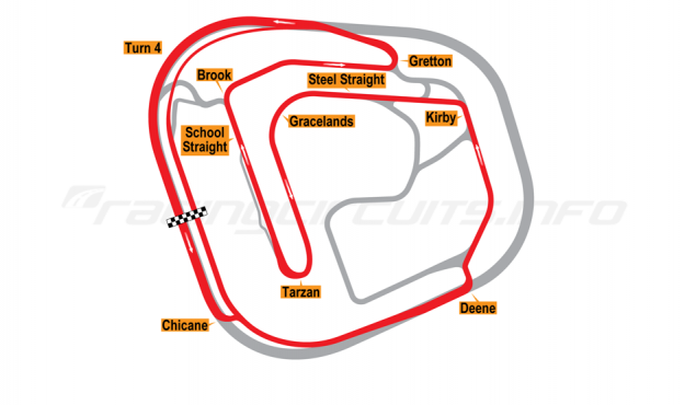 Map of Rockingham, Historic Circuit 2001 to date