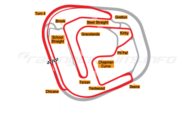 Map of Rockingham, International Long Circuit 2001-18