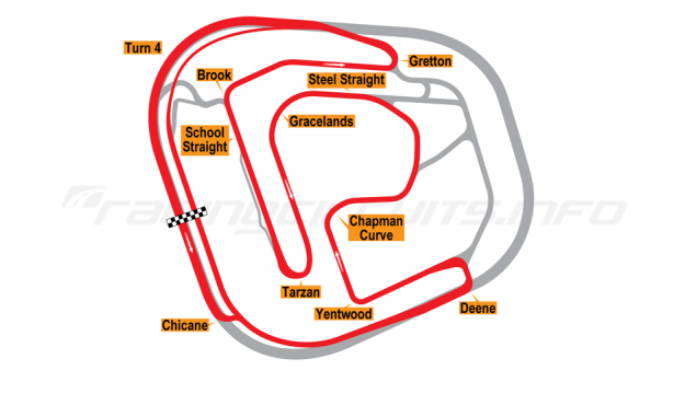 Map of Rockingham, International Short Circuit 2001-18