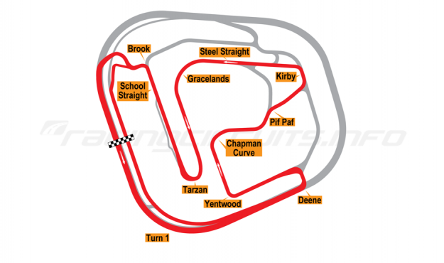 Map of Rockingham, International Super Sportscar Long Circuit 2001-18