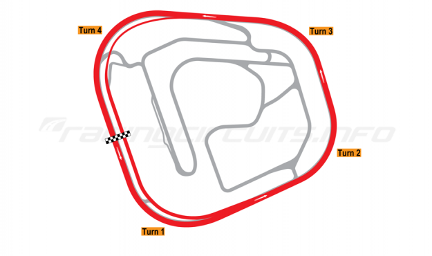 Map of Rockingham, Oval Circuit 2001 to date