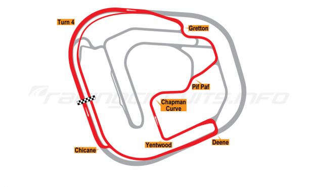 Map of Rockingham, Sportscar Circuit 2001 to date