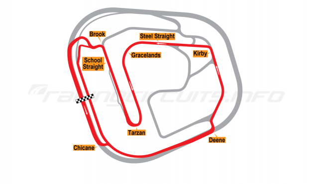 Map of Rockingham, Superbike Circuit 2001 to date