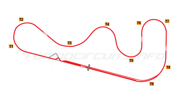 Map of Roebling Road, Road course with small chicane 1997 to date