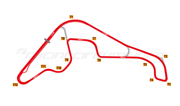 Map of Rosario, Extended Circuit 2018