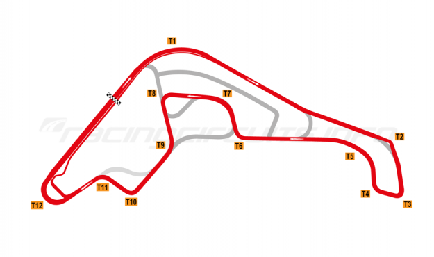 Map of Rosario, Alternative Extended Circuit 2019 to date