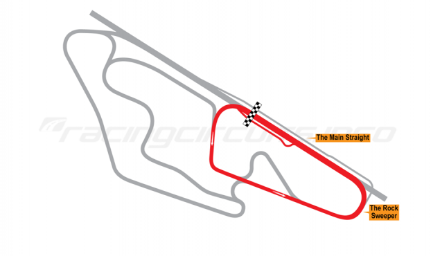 Map of Ruapuna Park, 'A' Trioval Circuit 1993 to date