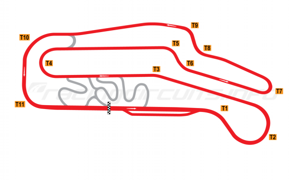 Map of Rustavi, Grand Prix circuit 1979-2009