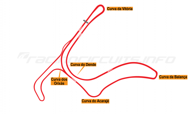 Map of Salvador, Circuito do CAB 2009