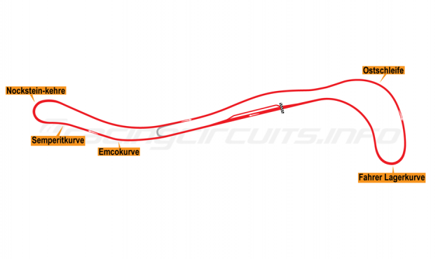 Map of Salzburgring, Grand Prix Circuit 1969-75