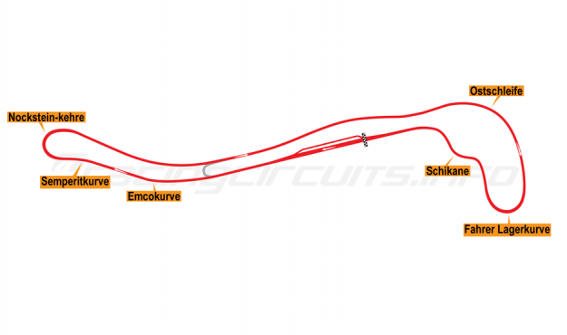 Map of Salzburgring, Grand Prix Circuit 1976-85