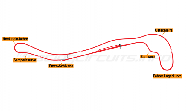 Map of Salzburgring, Grand Prix Motorcycle Circuit 1986-1997