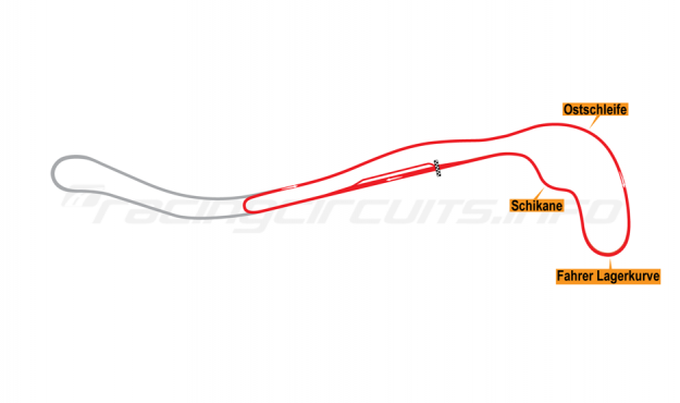 Map of Salzburgring, National Circuit 1976-85