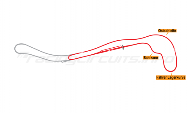 Map of Salzburgring, National Circuit 1986-1997