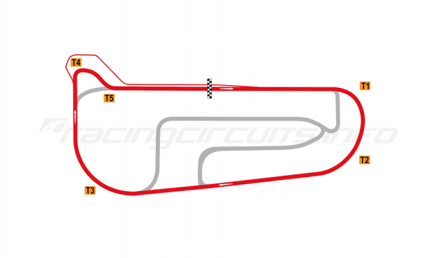 Map of Autódromo San Nicolás Ciudad, Outer circuit 2018 to date