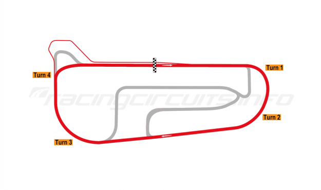 Map of Autódromo San Nicolás Ciudad, Oval circuit 2018 to date