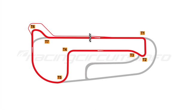 Map of Autódromo San Nicolás Ciudad, Short circuit 2018 to date