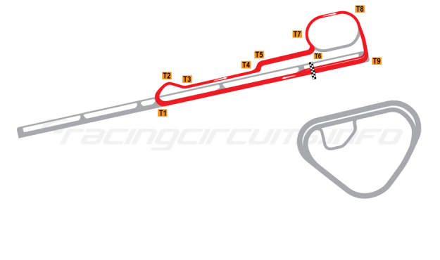 Map of Sanair, Road Course #3 1983 to date
