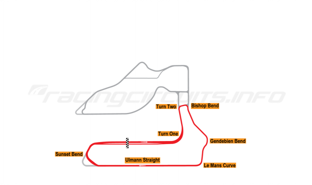 Map of Sebring, School Circuit 1999 to date