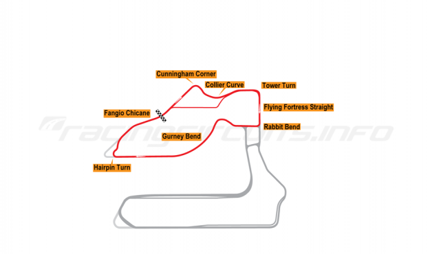 Map of Sebring, Johnson Club Circuit 2019 to date
